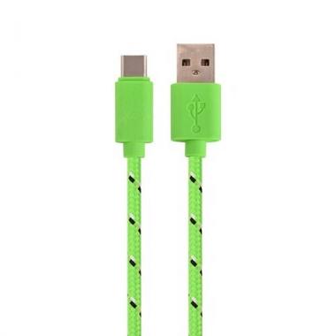 Nylon USB-C kabel 2 meter