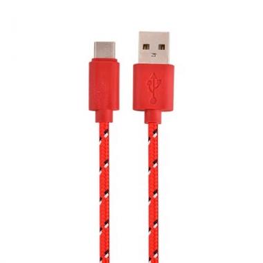 Nylon USB-C kabel 1 meter