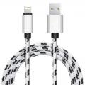Xinnier nylon Lightning kabel 3 meter wit