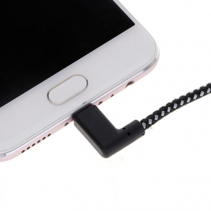 Nylon haakse Lightning naar USB kabel 2 meter