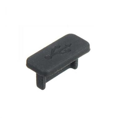USB-C anti-stof plug zwart (5 stuks)