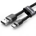 Baseus nylon USB-C kabel 3 meter zwart