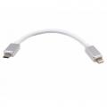 Lightning naar micro USB kabel 18 cm